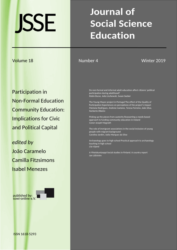 View Vol. 18 No. 4 (2019):  Participation in Non-Formal Education and Community Education - Implications for Civic and Political Capital