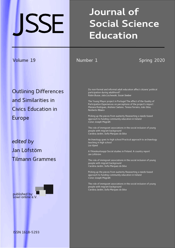 View Vol. 19 No. 1 (2020): Outlining Similarities and Differences in Civics Education in Europe