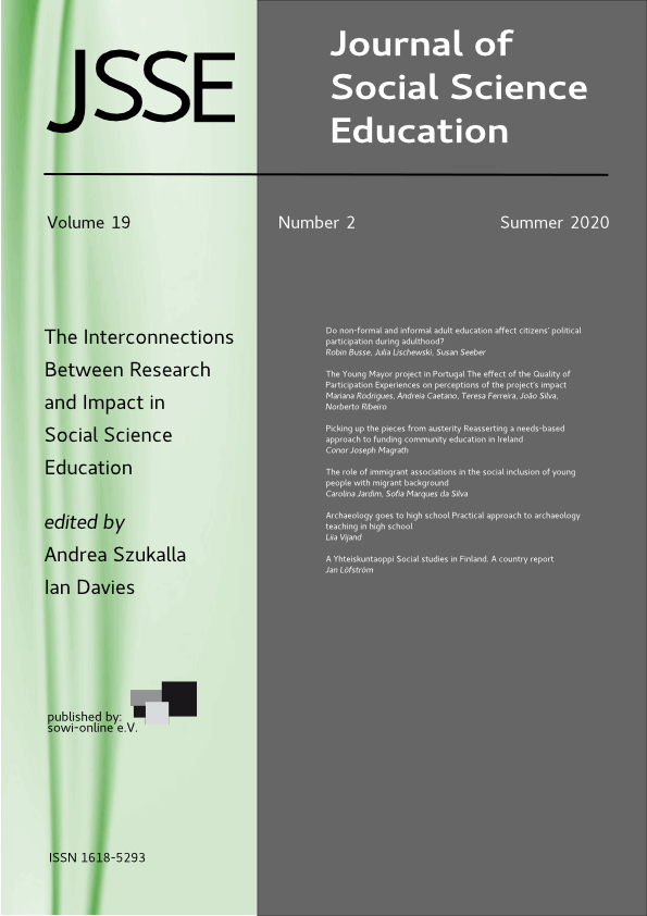 View Vol. 19 No. 2 (2020): Research and impact in social sciences education