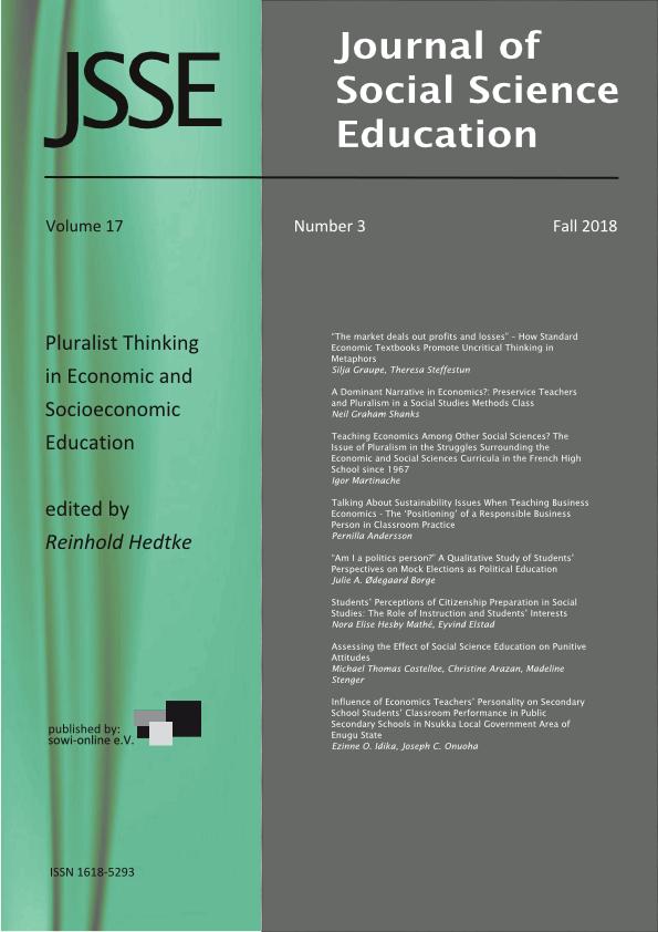 View Vol. 17 No. 3 (2018): Pluralist Thinking in Economic and Socioeconomic Education