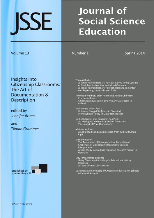 View 1-2014 Insights into Citizenship Classrooms: The Art of Documentation & Description