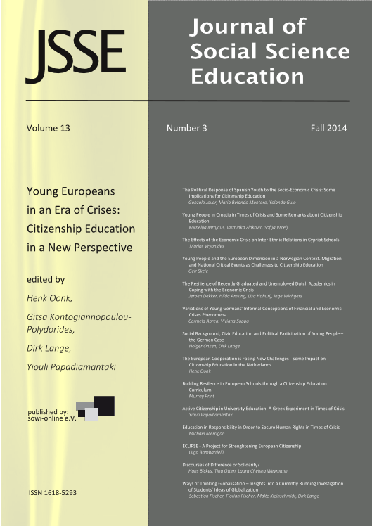 View 3-2014 Young Europeans in an Era of Crises: Citizenship Education in a New Perspective