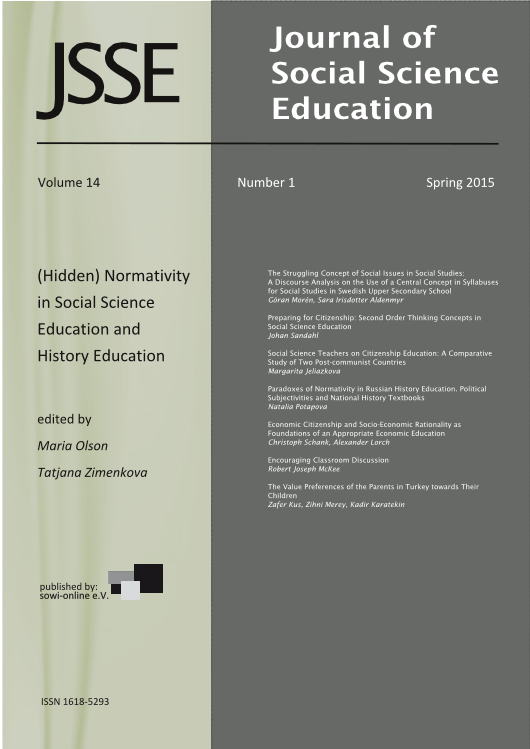 View 1-2015 (Hidden) Normativity in Social Science Education and History Education