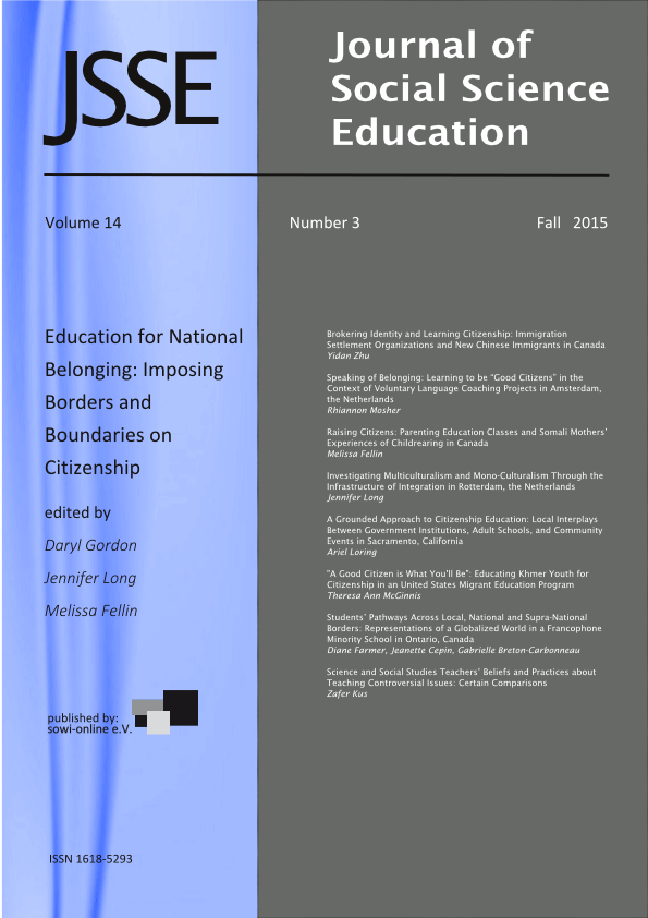View 3-2015 Education for National Belonging: Imposing Borders and Boundaries on Citizenship