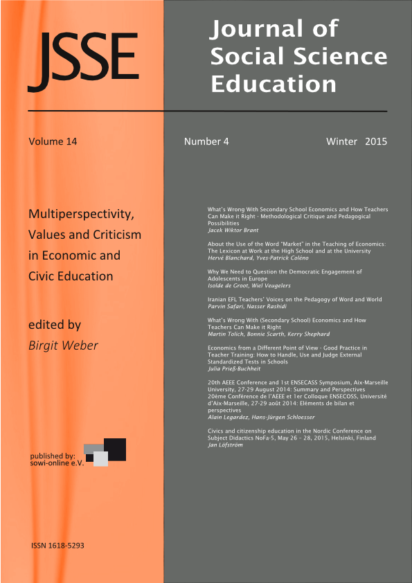 View 4-2015  Multiperspectivity, Values and Criticism in Economic and Civic Education