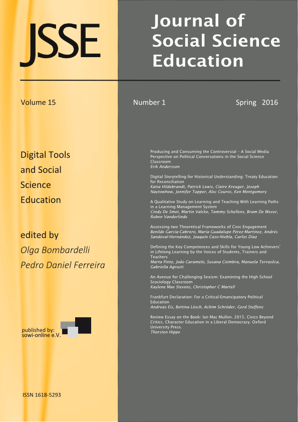 View 1-2016 Digital Tools and Social Science Education
