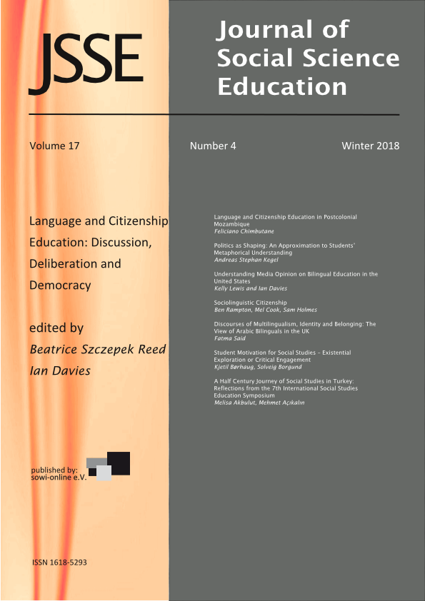 View Vol. 17 No. 4 (2018): Language and Citizenship Education: Discussion, Deliberation and Democracy